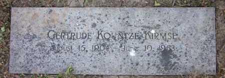 KOUNTZE KIRMSE, GERTRUDE - Douglas County, Nebraska | GERTRUDE KOUNTZE KIRMSE - Nebraska Gravestone Photos