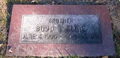 KLINE, BOYD J. - Douglas County, Nebraska | BOYD J. KLINE - Nebraska Gravestone Photos
