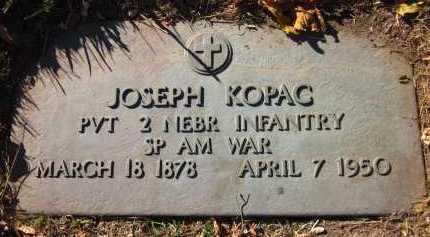 KOPAC, JOSEPH - Douglas County, Nebraska | JOSEPH KOPAC - Nebraska Gravestone Photos