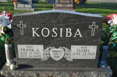 KOSIBA, FRANK G. - Douglas County, Nebraska | FRANK G. KOSIBA - Nebraska Gravestone Photos