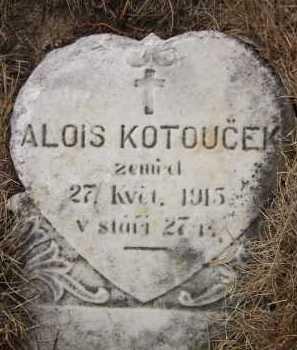 KOTOUCEK, ALOIS - Douglas County, Nebraska   ALOIS KOTOUCEK - Nebraska Gravestone Photos
