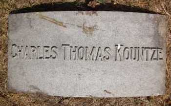 KOUNTZE, CHARLES THOMAS - Douglas County, Nebraska | CHARLES THOMAS KOUNTZE - Nebraska Gravestone Photos