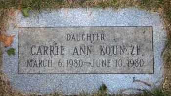 KOUNTZE, CARRIE ANN - Douglas County, Nebraska   CARRIE ANN KOUNTZE - Nebraska Gravestone Photos