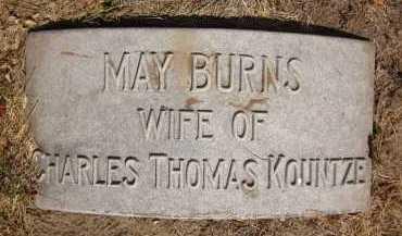 BURNS KOUNTZE, MAY - Douglas County, Nebraska | MAY BURNS KOUNTZE - Nebraska Gravestone Photos