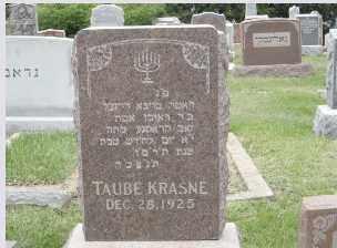 KRASNE, TOBA (TAUBE) - Douglas County, Nebraska   TOBA (TAUBE) KRASNE - Nebraska Gravestone Photos