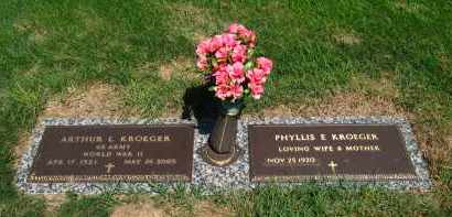 KROEGER, PHYLLIS - Douglas County, Nebraska | PHYLLIS KROEGER - Nebraska Gravestone Photos