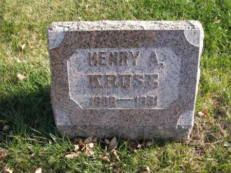 KRUSE, HENRY A. - Douglas County, Nebraska   HENRY A. KRUSE - Nebraska Gravestone Photos