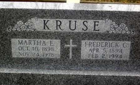 KRUSE, FREDERICK G. - Douglas County, Nebraska | FREDERICK G. KRUSE - Nebraska Gravestone Photos