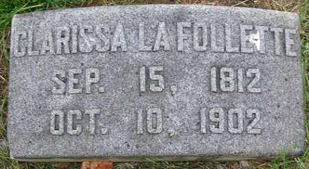 LA FOLLETTE, CLARISSA - Douglas County, Nebraska | CLARISSA LA FOLLETTE - Nebraska Gravestone Photos