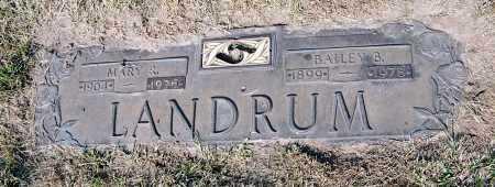 LANDRUM, MARY - Douglas County, Nebraska | MARY LANDRUM - Nebraska Gravestone Photos
