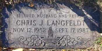 LANGFELDT, CHRIS J. - Douglas County, Nebraska | CHRIS J. LANGFELDT - Nebraska Gravestone Photos