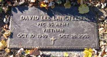LANGFELDT, DAVID LEE - Douglas County, Nebraska | DAVID LEE LANGFELDT - Nebraska Gravestone Photos