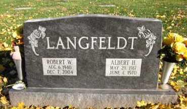 LANGFELDT, ALBERT H. - Douglas County, Nebraska | ALBERT H. LANGFELDT - Nebraska Gravestone Photos