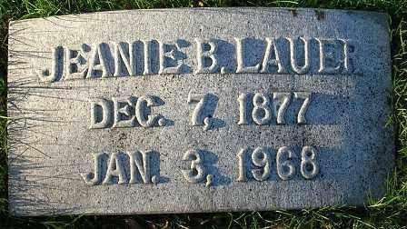 LAUER, JEANIE B. - Douglas County, Nebraska   JEANIE B. LAUER - Nebraska Gravestone Photos