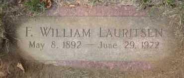 LAURITSEN, F. WILLIAM - Douglas County, Nebraska | F. WILLIAM LAURITSEN - Nebraska Gravestone Photos
