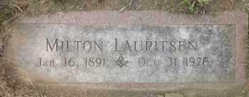 LAURITSEN, MILTON - Douglas County, Nebraska   MILTON LAURITSEN - Nebraska Gravestone Photos