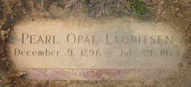 LAURITSEN, PEARL OPAL - Douglas County, Nebraska | PEARL OPAL LAURITSEN - Nebraska Gravestone Photos
