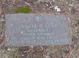 LEAR, ERNEST G. - Douglas County, Nebraska | ERNEST G. LEAR - Nebraska Gravestone Photos