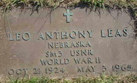 LEAS, LEO A - Douglas County, Nebraska | LEO A LEAS - Nebraska Gravestone Photos