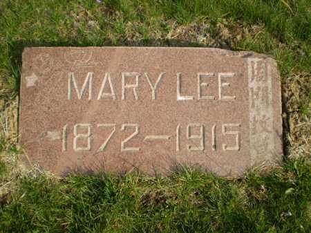 LEE, MARY - Douglas County, Nebraska   MARY LEE - Nebraska Gravestone Photos