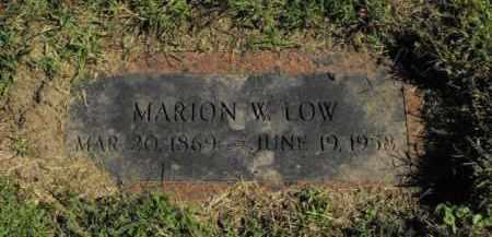 LOW, MARION W. - Douglas County, Nebraska | MARION W. LOW - Nebraska Gravestone Photos