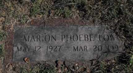 LOW, MARION PHOEBE - Douglas County, Nebraska | MARION PHOEBE LOW - Nebraska Gravestone Photos