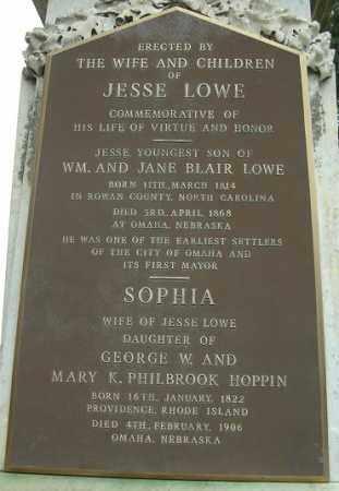 HOPPIN LOWE, SOPHIA L. - Douglas County, Nebraska | SOPHIA L. HOPPIN LOWE - Nebraska Gravestone Photos
