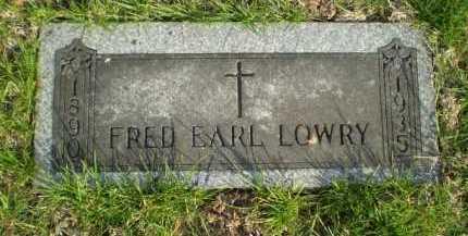 LOWRY, FRED EARL - Douglas County, Nebraska | FRED EARL LOWRY - Nebraska Gravestone Photos