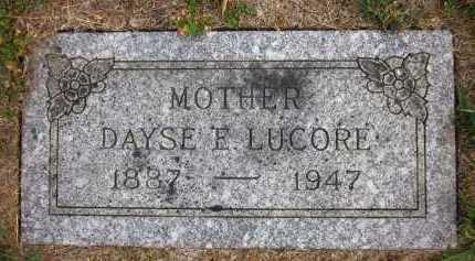 LUCORE, DAYSE E. - Douglas County, Nebraska | DAYSE E. LUCORE - Nebraska Gravestone Photos