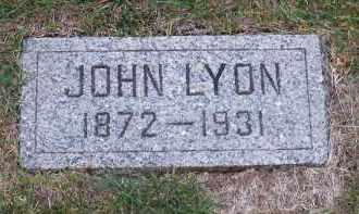 LYON, JOHN - Douglas County, Nebraska | JOHN LYON - Nebraska Gravestone Photos