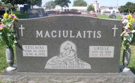 MACIULAITIS, URSULE - Douglas County, Nebraska | URSULE MACIULAITIS - Nebraska Gravestone Photos