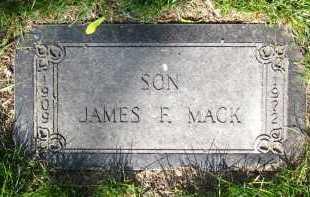 MACK, JAMES F. - Douglas County, Nebraska | JAMES F. MACK - Nebraska Gravestone Photos