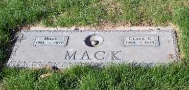 MACK, MILES - Douglas County, Nebraska | MILES MACK - Nebraska Gravestone Photos
