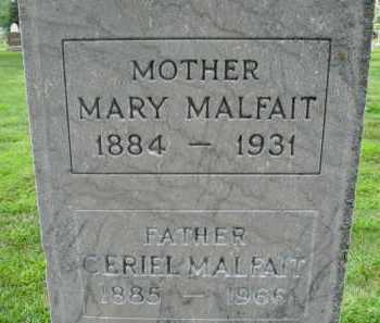 MALFAIT, CERIEL - Douglas County, Nebraska | CERIEL MALFAIT - Nebraska Gravestone Photos