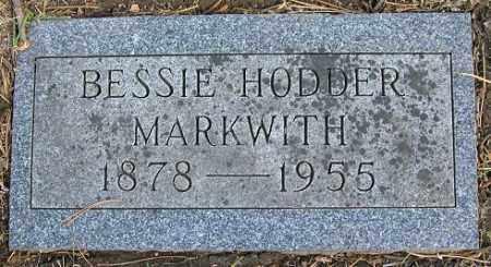 HODDER MARKWITH, BESSIE - Douglas County, Nebraska | BESSIE HODDER MARKWITH - Nebraska Gravestone Photos
