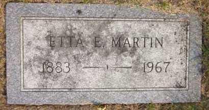 MARTIN, ETTA E. - Douglas County, Nebraska | ETTA E. MARTIN - Nebraska Gravestone Photos