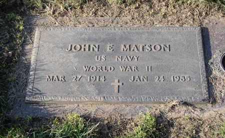 MATSON, JOHN E. - Douglas County, Nebraska   JOHN E. MATSON - Nebraska Gravestone Photos