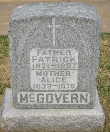 MC GOVERN, ALICE - Douglas County, Nebraska | ALICE MC GOVERN - Nebraska Gravestone Photos