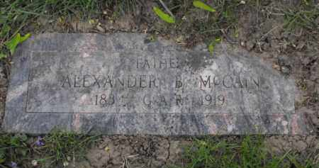 MC CAIN, ALEXANDER - Douglas County, Nebraska | ALEXANDER MC CAIN - Nebraska Gravestone Photos