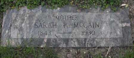 MC CAIN, SARAH P. - Douglas County, Nebraska   SARAH P. MC CAIN - Nebraska Gravestone Photos