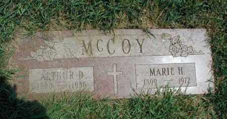 MC COY, ARTHUR D - Douglas County, Nebraska | ARTHUR D MC COY - Nebraska Gravestone Photos