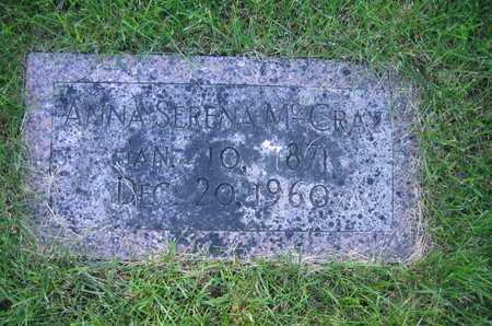JOHNSON MCCRAY, ANNA SERENA - Douglas County, Nebraska | ANNA SERENA JOHNSON MCCRAY - Nebraska Gravestone Photos