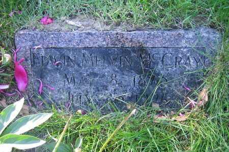 MCCRAY, EDWIN MELVIN - Douglas County, Nebraska | EDWIN MELVIN MCCRAY - Nebraska Gravestone Photos