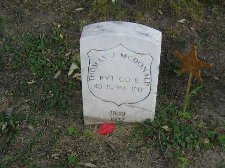 MC DONALD, THOMAS J - Douglas County, Nebraska | THOMAS J MC DONALD - Nebraska Gravestone Photos