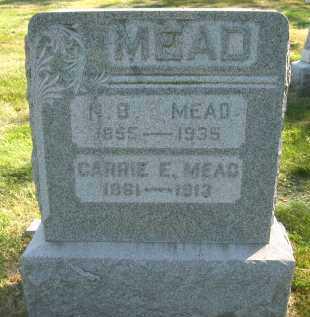 MEAD, CARRIE E. - Douglas County, Nebraska | CARRIE E. MEAD - Nebraska Gravestone Photos
