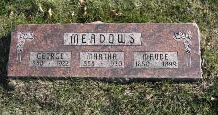 MEADOWS, MARTHA - Douglas County, Nebraska | MARTHA MEADOWS - Nebraska Gravestone Photos