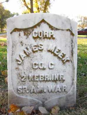 MEEK, JAMES - Douglas County, Nebraska | JAMES MEEK - Nebraska Gravestone Photos