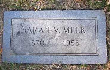 MEEK, SARAH V. - Douglas County, Nebraska   SARAH V. MEEK - Nebraska Gravestone Photos