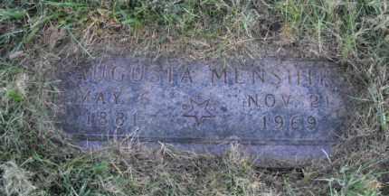 MENSHIK, AUGUSTA - Douglas County, Nebraska | AUGUSTA MENSHIK - Nebraska Gravestone Photos