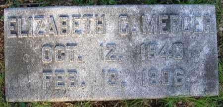 MERCER, ELIZABETH C. - Douglas County, Nebraska   ELIZABETH C. MERCER - Nebraska Gravestone Photos